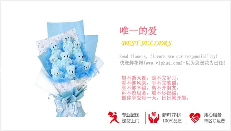 唯一的爱—快送鲜花网|异地送礼物|卡通花束|公仔外偶|毛绒玩具|网上买礼物|情人节礼物