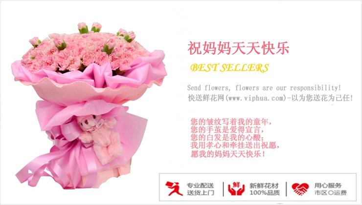 祝妈妈天天快乐—快送鲜花网 母亲节订花 同城快递鲜花 网上订鲜花 节日鲜花
