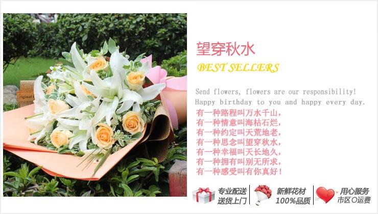 望穿秋水—快送鲜花网|北京市订鲜花|昌平区订鲜花|鲜花预定|网上订花