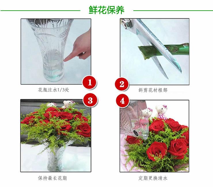 鲜花快递玫瑰花保质期